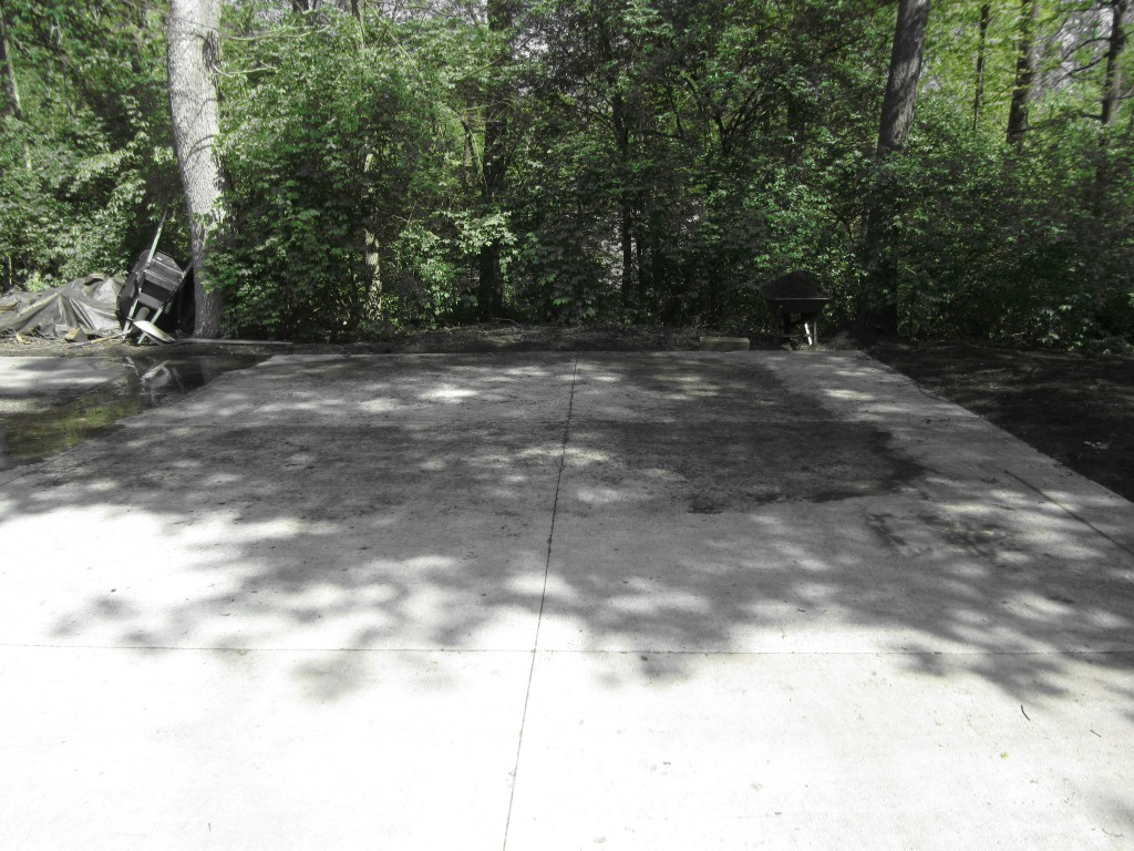 Before Concrete Cleaning Dayton