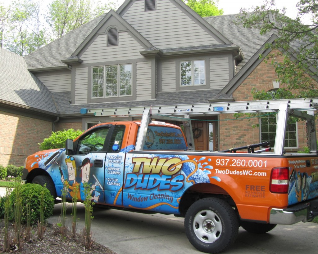 Two Dudes Truck - Residential Window Cleaning Dayton Ohio