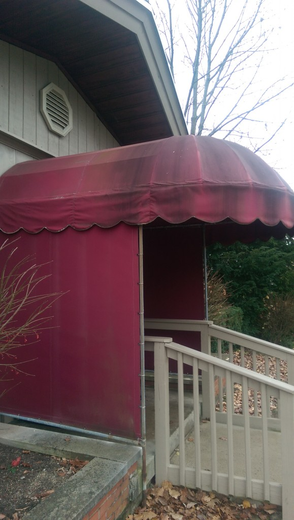 Before Commercial Awning Cleaning in Oakwood