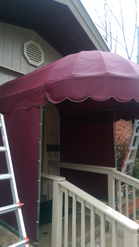 After Commercial Awning Cleaning